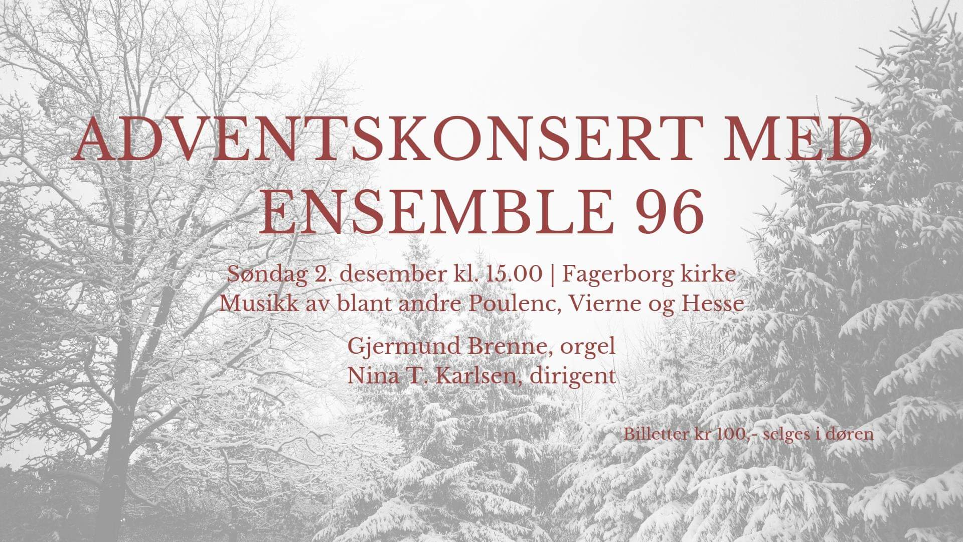 Adventskonsert med Ensemble 96
